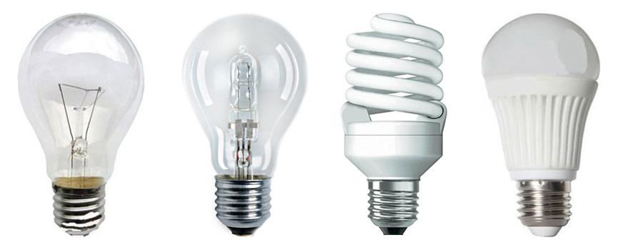 Самые популярные виды ламп